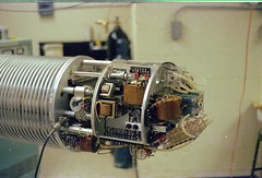 76MTL3f-01- Accelerator Terminal Uncovered (grogley) Tags: holland film michigan nuclear physics 1976 hopecollege