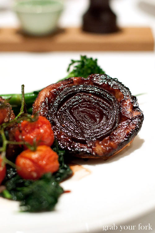 wolgan valley red onion tarte tatin