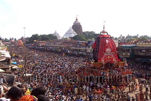 The car of goddess Subhadra :: Rathyatra