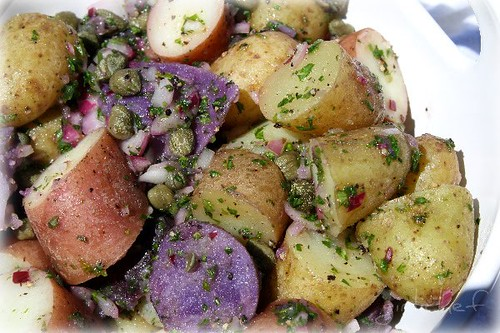 Greek Potato Salad with Capers @ Girlichef