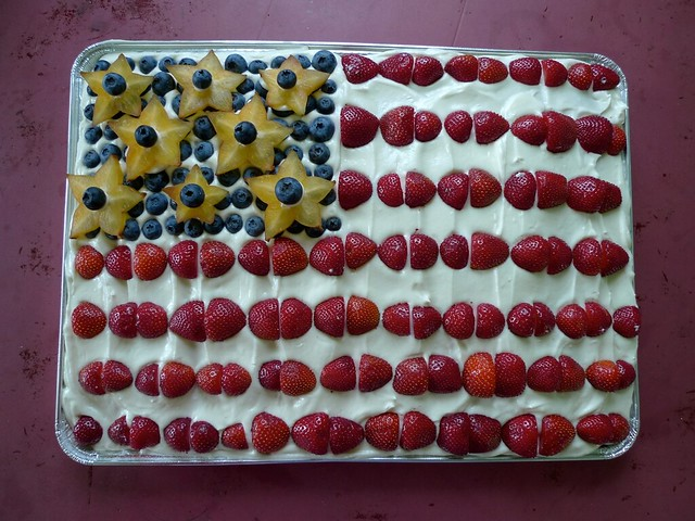 Happy 4th, from blueberries, strawberries and star fruit.