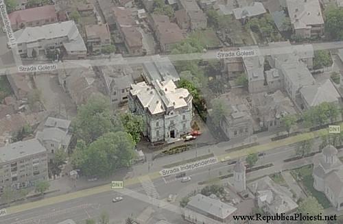 Palatul Ghita Ionescu - vedere din satelit