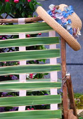 Nice Place to Hang Your Hat! (antonychammond) Tags: flowers blue red brown green hat garden malvern rhs gardenchair royalhorticulturalsociety citrit estremità theunforgettablepictures colourartaward theperfectphotographer malvernspringgardeningshow mallmixstaraward expressyourselfaward