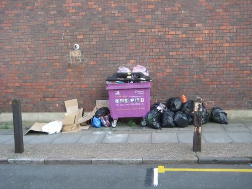 The scene in Treby Street 5th July 2010
