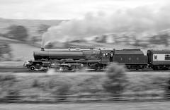 Lizzie at speed (geoffspages) Tags: geotagged railway steam lms 6201 princesselizabeth uksteam geo:lat=54025444 geo:lon=2268419