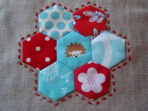 hexagon pincushion