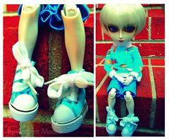 Teddy's New Shoes (Sock Hop Adoption Shop) Tags: blue boy asian doll nosferatu kawaii posable junplanning taeyang grooveinc taeyangnosferatu