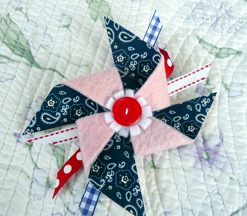 Felt and Fabric Pinwheel