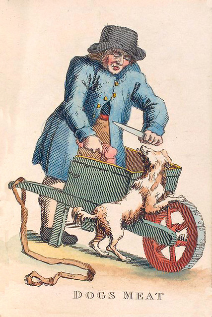 010-Vendedor de carne para perros-Costume of the lower orders of the metrópolis 1820- Lord  Thomas Busby