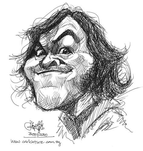 digital sketch study of Jack Black - 1