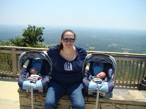 Kate and Boys at Pilot Mountain