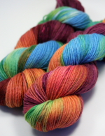 Firefly on Single ply merino (worsted)