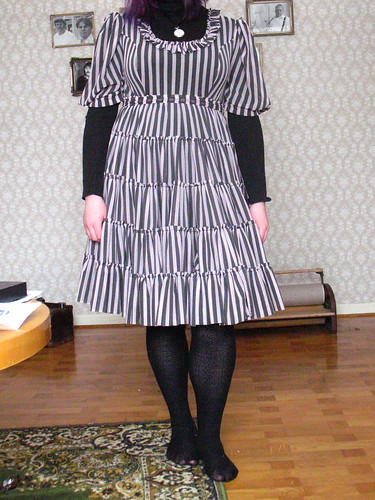 striped dress - on