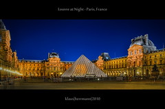 Louvre at Night - Paris, France (HDR) (farbspiel) Tags: travel blue light red vacation holiday paris france colour rot history tourism colors yellow museum night photoshop dark nikon frankreich colorful îledefrance colours pyramid louvre tripod wideangle historic gelb journey blended colourful blau nikkor dri hdr highdynamicrange fra farben blend postprocessing dynamicrangeincrease 18200mm d90 photomatix digitalblending tonemapped tonemapping farbenpracht detailenhancer topazadjust topazdenoise topazsoftware topazphotoshopbundle nikonafsdxnikkor18200mm13556gedvr