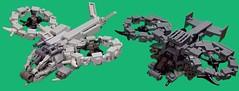 Samson and Scorpion (tbone_tbl) Tags: james chopper lego avatar scorpion helicopter cameron tilt pandora heli rotor gunship