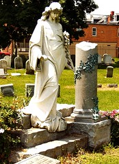 Haunted Tombstone - Augusta Bitner - Lancaster Cemetery - Lancaster PA (fundraz34) Tags: sculpture halloween cemetery tombstone haunted spirits ghosts lancastercounty tombstones lancasterpa amishcountry lancastercemetery augustabitner hauntedcemeteries