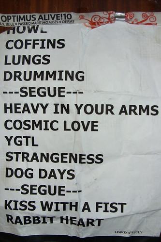 Setlist Florence + The Machine