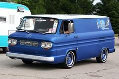 Cool 1964 Chevy Corvair Van (osubuckialum) Tags: auto blue columbus ohio classic cars chevrolet car automobile july 64 chevy hotrod oh van custom carshow streetrod 1964 2010 corvair goodguys ohiostatefairgrounds