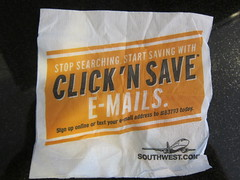 Southwest Airlines Email Marketing - Napkin Campaign