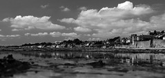 Black and White and Largo (therundmc13) Tags: sun black reflection clouds scotland fife path coastal whit lower largo