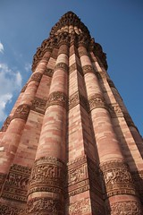 Up the Qutb Minar (viwehei) Tags: world india art heritage architecture buildings asian asia raw minaret delhi indian capital culture unesco mausoleum monuments newdelhi