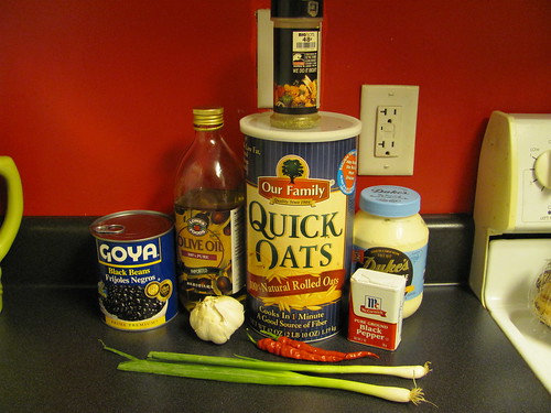 Black bean burger ingredients