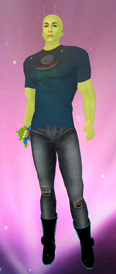 Cupcake Clothing OOTW Shirt and Jeans SaCluttered Closet Toy Story Alien