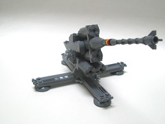Flak 88. (Erik C.) Tags: during this was 1 gun tank with lego tiger bricks an used made enjoy ww2 88 flak antiaircraft