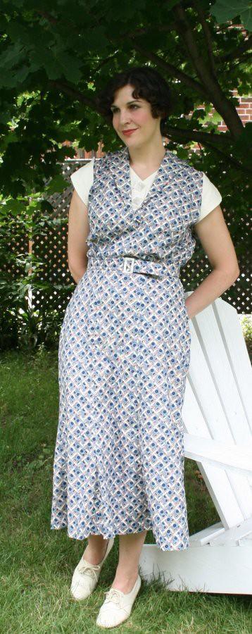 nudeedudee 1930s repro dress
