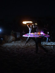 "Fire dancers in the ""Drum Beach"", Tel Aviv, Israel, 23th April .2010 (Shachar Laudon pics) Tags: israel telaviv firespinning april juggling  2010 firetwirling fireperformance   drumbeach"