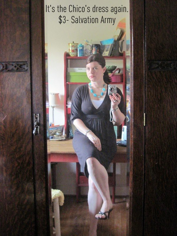 What I Wore- Chico's Dress again