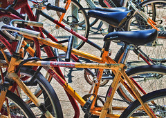 A mess of Bikes by U of T (Sally E J Hunter) Tags: toronto bikes bicycles moo1 topwkm
