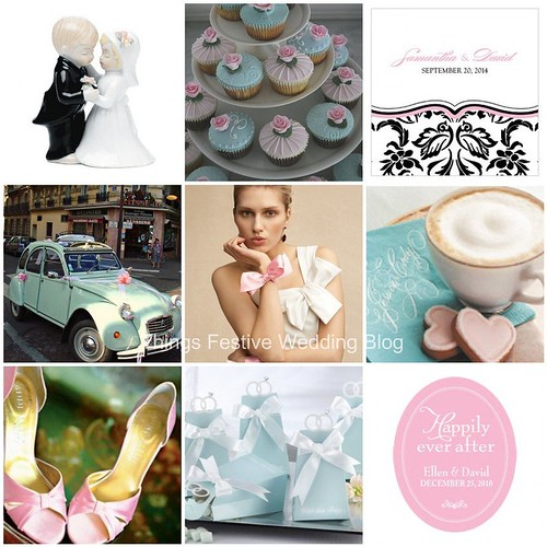baby blue and blush pink wedding theme Resources Credits
