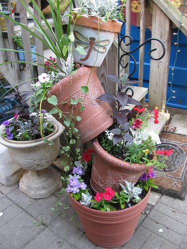 Cascading Flower Pots