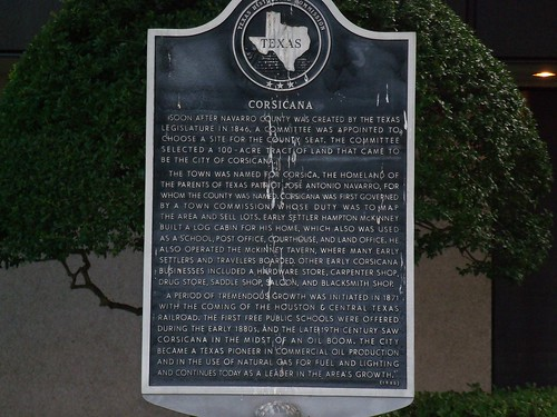 Corsicana, Texas Historical Marker by fables98