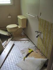 kids' bathroom rehab underway