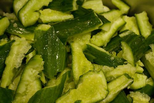 preparing cucumbers
