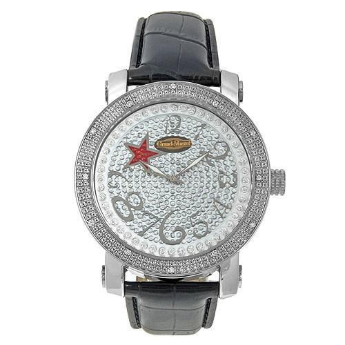 33fe49c739a60 ساعة رجالية من Grand Master تحتوي على 12 فص الماس