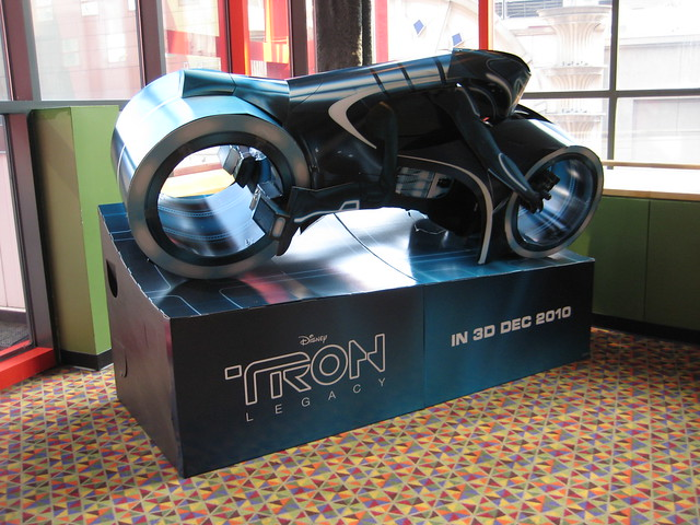 Tron Legacy Light Cycle Movie Poster Standee 1