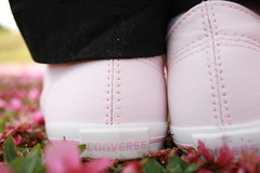 Sweet pink shoes (Honey Pie!) Tags: pink flowers girl shoes adorable converse sakura allstar melinadesouza