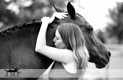 (Jennifer McCready Photography/Lady Luck Pin Ups) Tags: horse woman ontario cute love girl beautiful hug kiss close farm relationship grimsby jennifermccreadyphotography