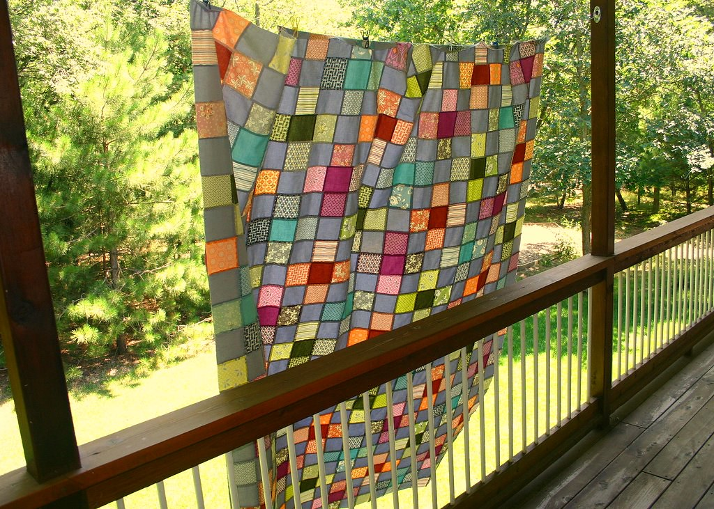Flower Valley Quilt - view from back