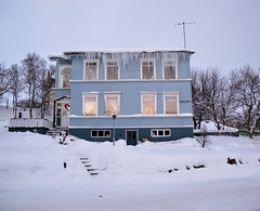 My dream house! (mrs nmhc) Tags: blue winter snow iceland icicles akureyri