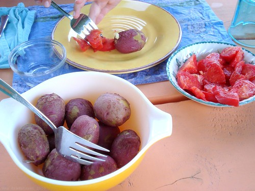 potatoes and tomatoes