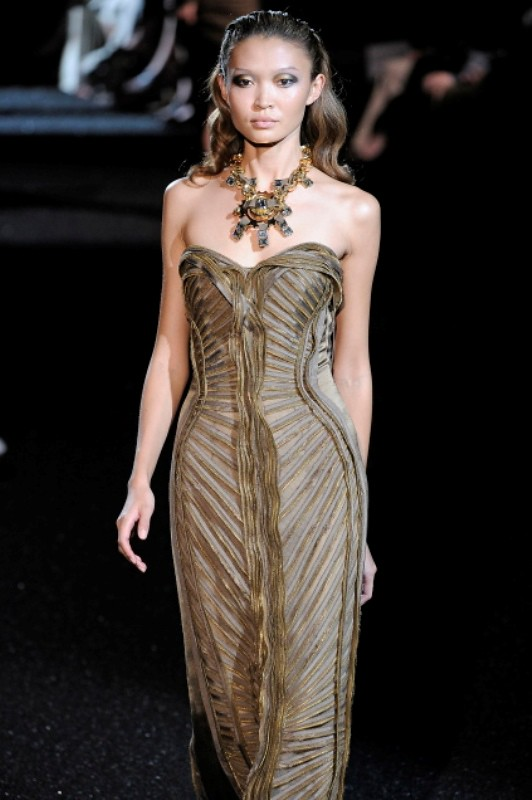 Basil Soda FW2010 collection zipper evening gown dress 14