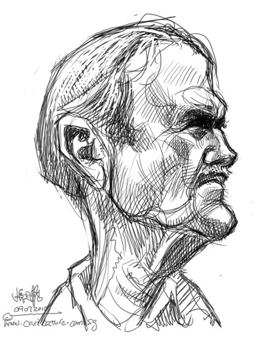 digital sketch studies of John Cleese - 6