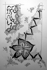 Slow Like Honey (Jo in NZ) Tags: pen ink drawing line doodle zentangle nzjo zendoodle