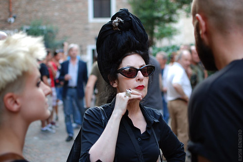 Diane Pernet at Lazzari