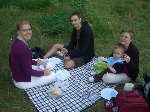 Blåsig picnic