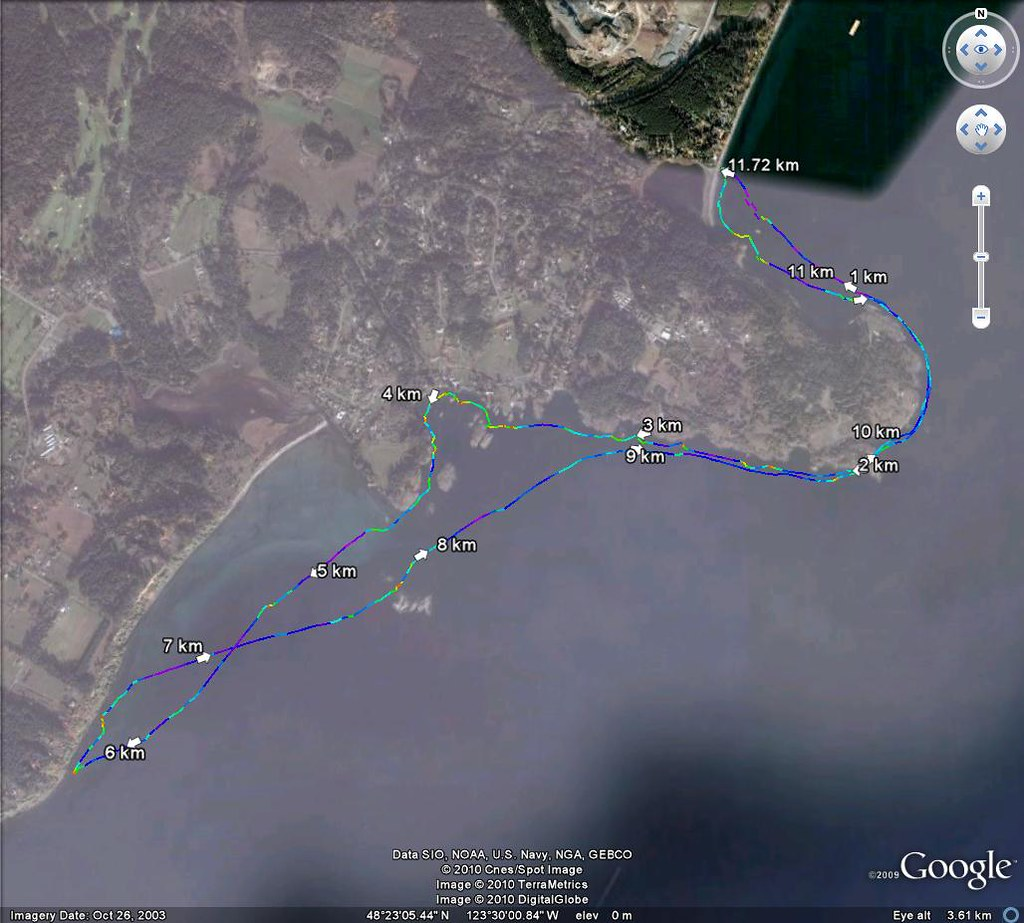 2010-07-18 Albert Head gps